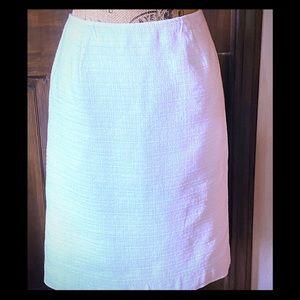 White Linen Pencil Skirt